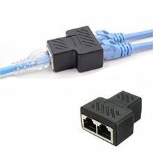 2 パック RJ45 スプリッタコネクタアダプタ、 1 に 2 方法イーサネットケーブルインタフェース RJ 45 ソケットアダプタ 8P8C ハブネットワーク LAN インターネット PC