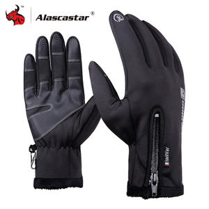 Motorcycle Gloves Winter Warm Fleece Lined Gloves Touch Screen Motorbike Gloves Windproof Waterproof Protective Moto Gloves