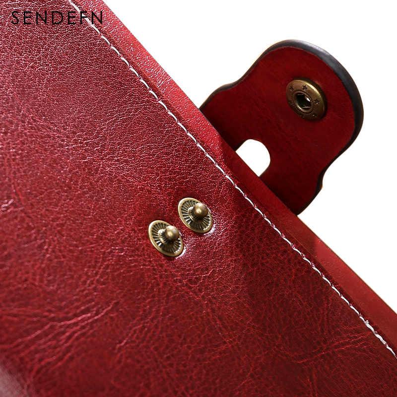 SENDEFN новый дизайнерский женский кожаный кошелек женский винтажный Дамский кошелек на молнии портмоне держатель Portefeuiile Femme кошелек 5199-69