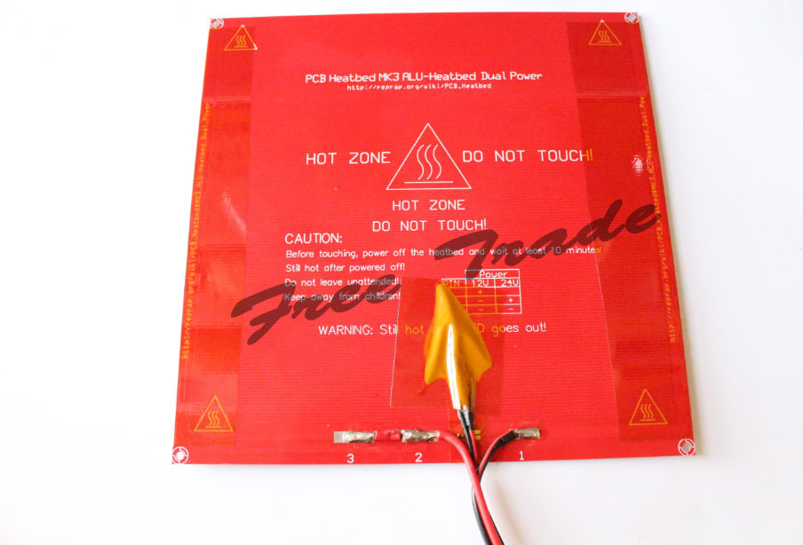 RepRap PCB MK3 heat bed,3d printer parts latest Aluminum heatbed dual power Free shipping