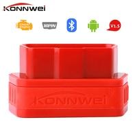 Konnwei OBD2 V1.5 mini ELM327 OBD 2 Bluetooth Auto Scanner OBDII Bluetooth V 1.5 ELM 327 Tester Auto Công Cụ Chẩn Đoán Scanner