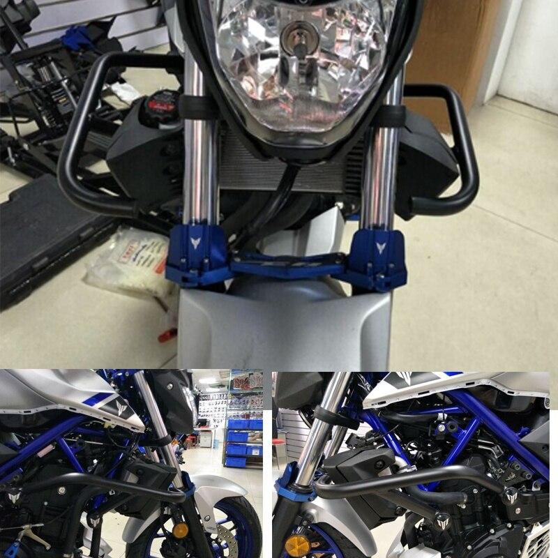 US $98 0 25% OFF KEMiMOTO MT03 MT25 Engine Protetive Guard Crash Bar  Protector For Yamaha MT 03 MT 25 MT03 MT25 2015 2016 2017 2018 2019-in  Covers &