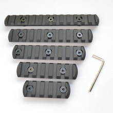 5,7,9,11,13 slot CNC Aluminum Picatiny/Weaver Rail Section For Keymod Handguard Rail Mount купить недорого в Москве