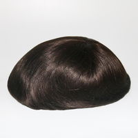 Eversilky Free Style Fine MONO Toupee With Thin PU Human Hair Piece Various Color Hair System Peluca Hombre Hairpieces