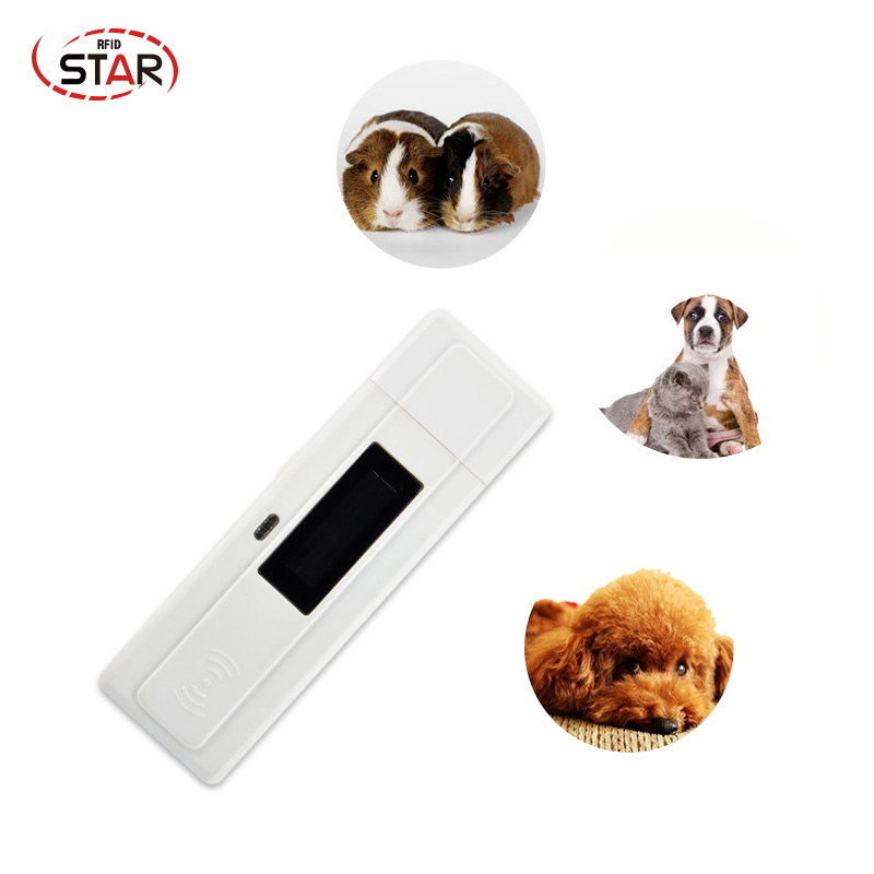 LF Animal Rfid Reader ISO11784/5 FDX-B Glass Tag Reader Dog Chip Scanner 134.2KHz Hot Sale For Pet Tracking Tags