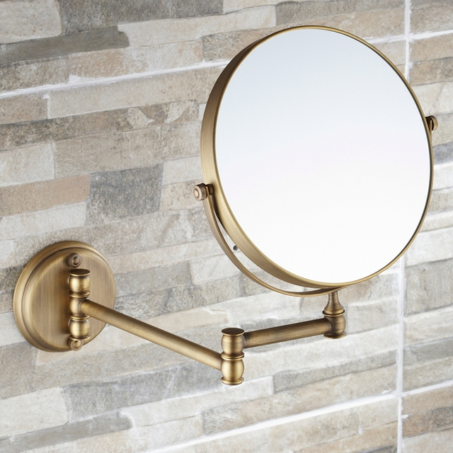 2014 New Hot Sale Metal Silver Framed Cosmetic Mirror Magnifier 8-inch Round Double-Faced for Bathroom