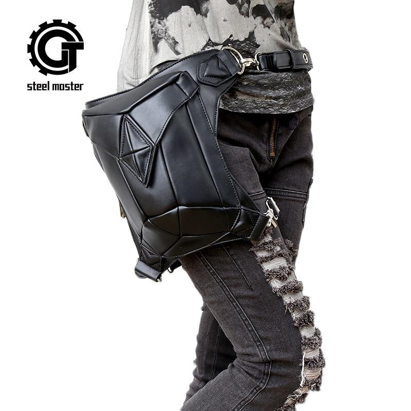 Steel Master Fashion Gothic Steampunk Retro Rock Bandolera de cuero - Bolsos