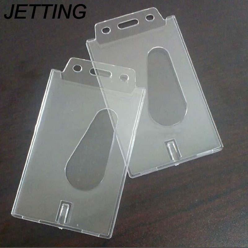 1 Stück Jetting Vertikale Kreditkarte Halter Transparent Hartplastik Business Kreditkarte Id Abzeichen Halter 100*60 * 4mm