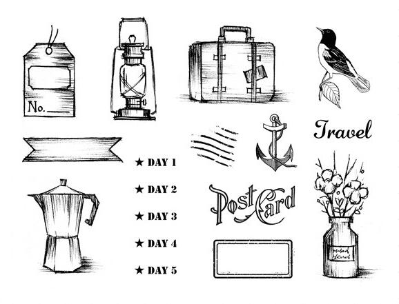 Journey Transparent Clear Silicone Stamp/Seal for DIY