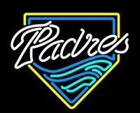 Business Custom NEON SIGN Board For Baseball San Diego Padres REAL GLASS Tube BEER BAR PUB