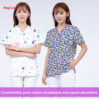 New Arrival 100% Cotton Medical Scrub Uniforms Hospital Medico Clothing Doctors Surgical Suit Medical Gowns