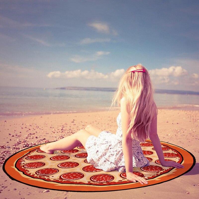 Hamburger Pizza Donuts 3D Beach font b Scarf b font Summer Bikini Wrap Print Pareo Boho