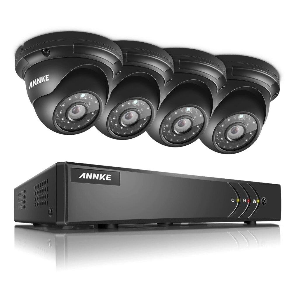 ANNKE 960P Outdoor IP66 Cameras 4CH DVR 1080P Lite HD-TVI Home Security System