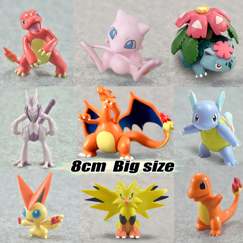 Big size Wartortle Charmeleon Delphox Ivysaur Venusaur MEGA anime action toy figures model pokemones