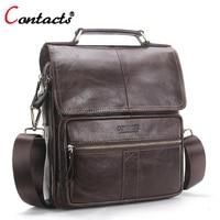 CONTACT S Men Bag Genuine Leather Shoulder Bags Handbag Men Luxury Brand Male Handbags Crossbody Messenger