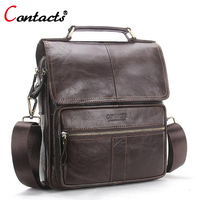 CONTACT S Men Bag Genuine Leather Shoulder Bags Handbag Men Luxury Brand Male Handbags Crossbody Messenger
