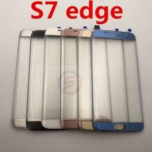 Przedni ekran dotykowy LCD zewnętrzny szklany obiektyw do Samsung Galaxy S7 edge G935 G935F