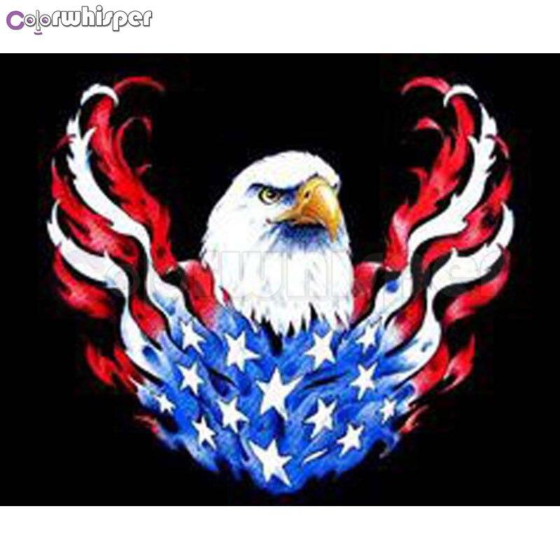 Diamond Painting Full Squareround Drill Patriotic American Bald