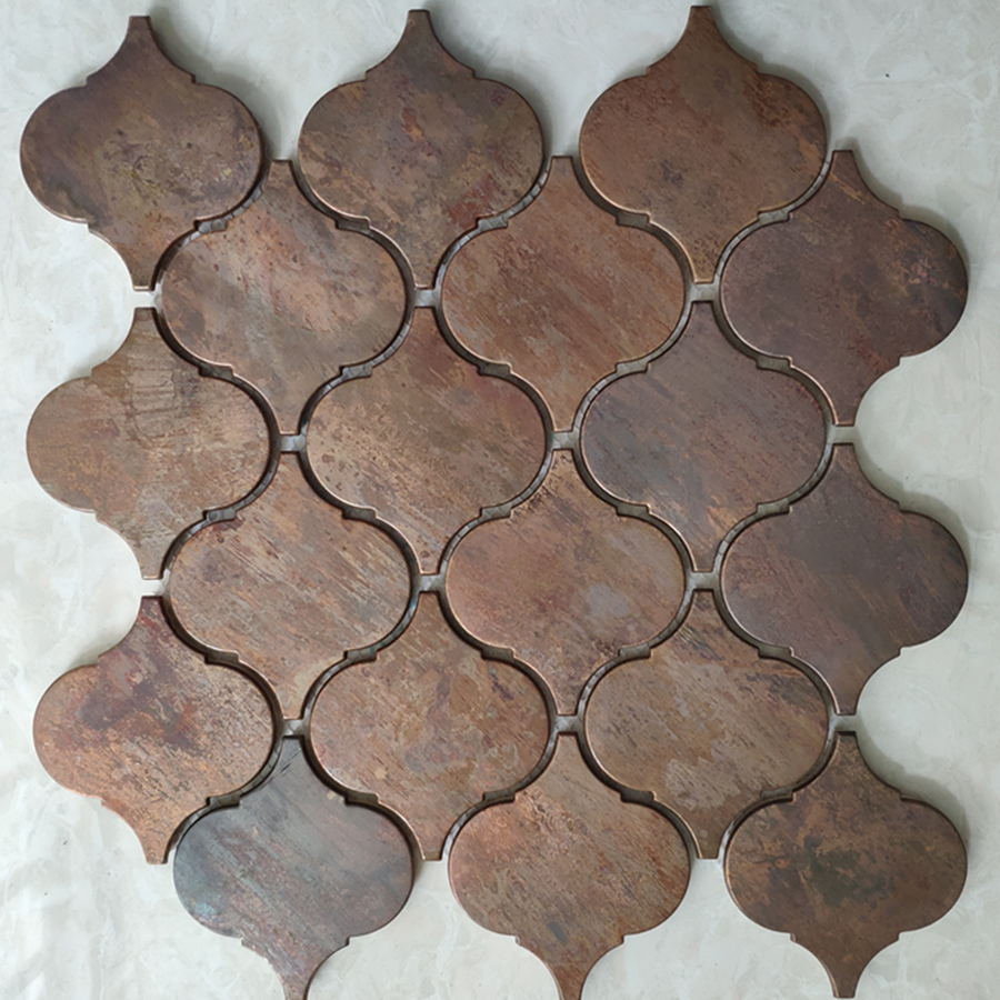 - Retro Arabesque Lantern Beacon Copper Tile In Bronze Brushed For