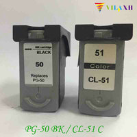 2pcs PG 50 CL 51 Black Color Ink Cartridge For Canon Pixma MP150 MP160 MP170 MP180