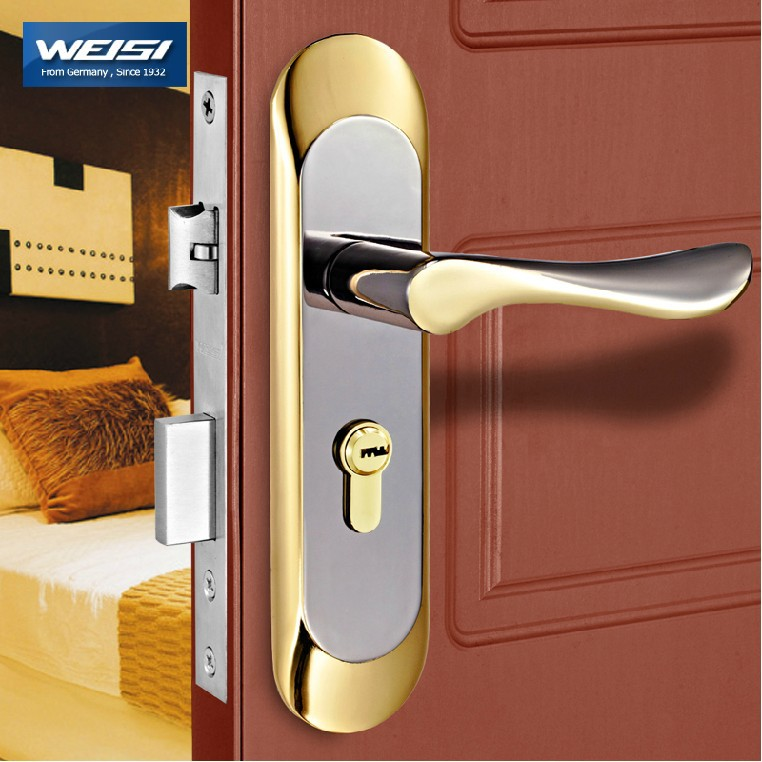 2 Pieces Door lock interior door locks European style bedroom solid ...