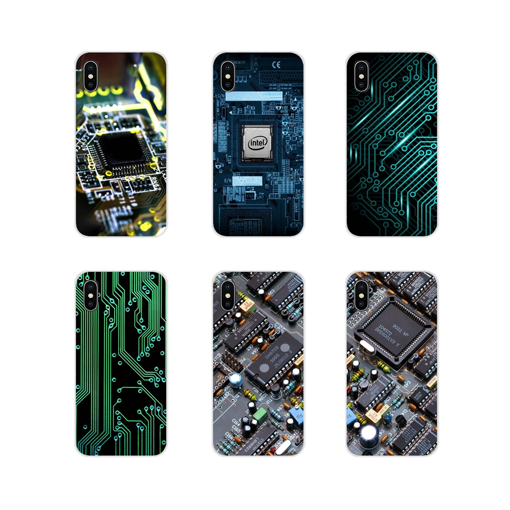 Accessories Phone Cases Covers funny <font><b>motherboard</b></font> For <font><b>Sony</b></font> Xperia Z Z1 Z2 Z3 <font><b>Z5</b></font> compact M2 M4 M5 C4 E3 T3 XA Huawei Mate 7 8 Y3II image