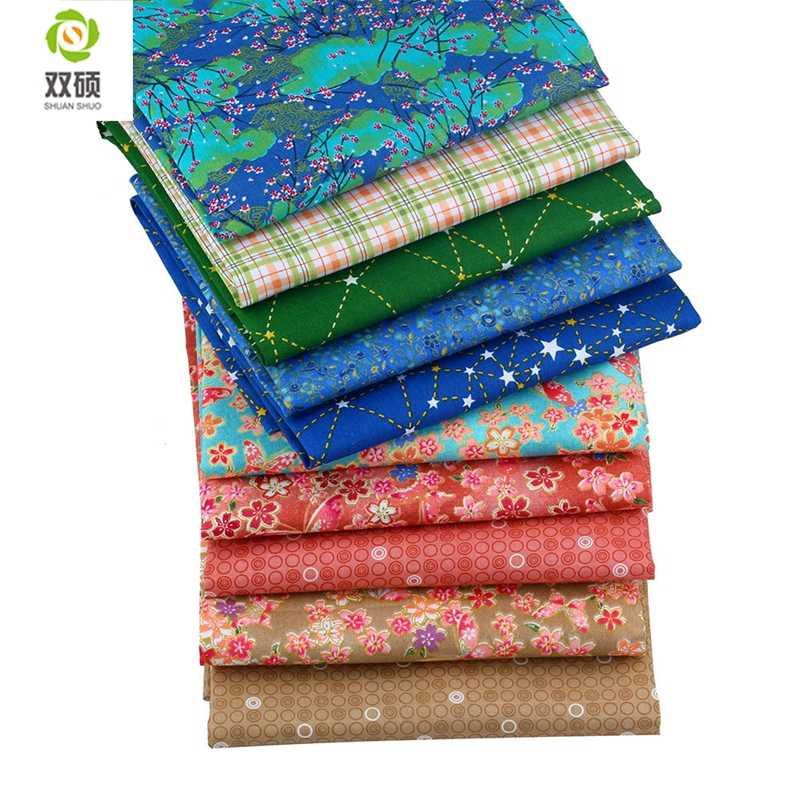 متعددة اللون حك القطن النسيج خليط الأنسجة القماش اليدوية DIY اللحف الخياطة الطفل و الأطفال ملاءات اللباس 40*50 سنتيمتر