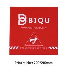 BIQU 200*200 MM Accessori Per Stampanti 3D Rosso Pittore Stampa Nastro Letto stampa Adesivo Costruire Nastro Piatto Per Stampante 3D MK2B MK3 Heatbed