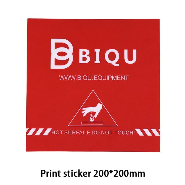 BIQU  200*200MM 3D Printer Accessories Red Painter Print Bed Tape Print Sticker Build Plate Tape For 3D Printer MK2B MK3 Heatbed