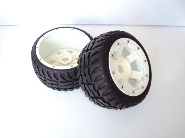 цена на Rear Highway-road Wheel Set With Nylon Super Star Wheel (TS-H95085) 2pcs for 1/5 Baja 5B, wholesale and retail