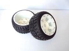 Ruedas de carretera de carretera trasera Conjunto Con Nylon Super Star neumáticos (TS-H95085) 2 unids para 1/5 Baja 5B, al por mayor y al por menor