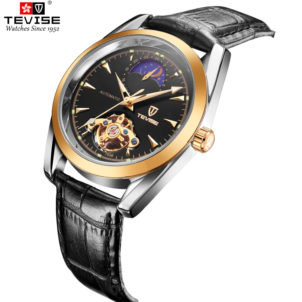 TEVISE Men Watches Automatic Mechanical Watch Tour