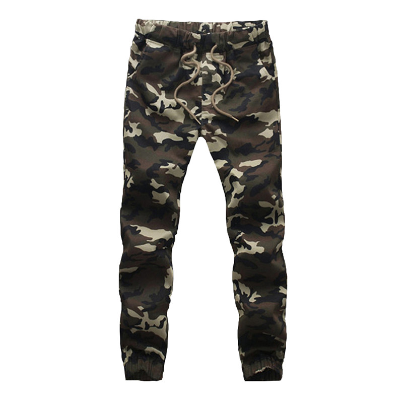 2018 New Joggers Men Camouflage Design 100% Cotton Spring Hot Sale Army Trousers Homme Elastic Waist Fashion Mens Pants M-3XL