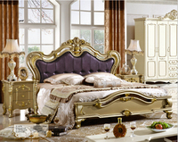 high quality European modern bed French bed genuine leather 1.8 m 7671