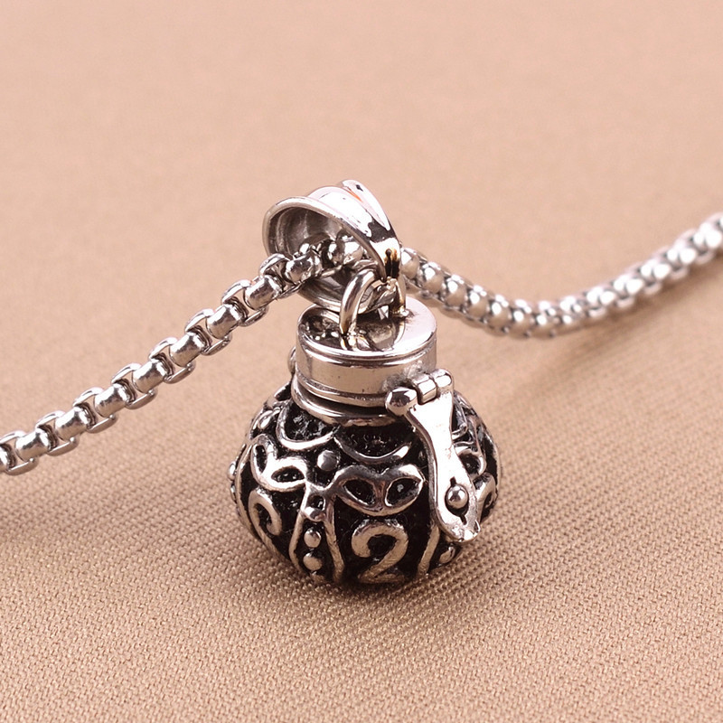 Lovers 39 stainless steel silver pets ash cremation pendant for Cremation jewelry for pets ashes
