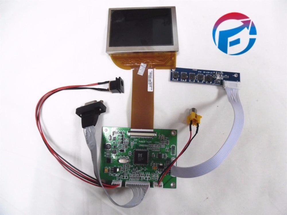 цена на 3.5 LCD+key-Press+VGA+VA Controller Drive Board PD035VX2 640*480 PVI LCD Panel