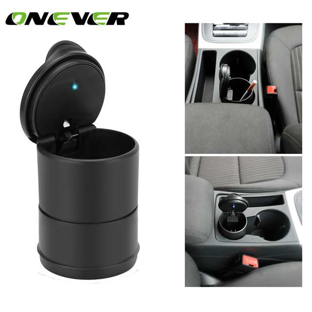 Portable Car Auto Truck LED Light Cigarette Ash Ashtray Butt Extinguish Holder Cylinder Office Cup Can Smoke Accessory
