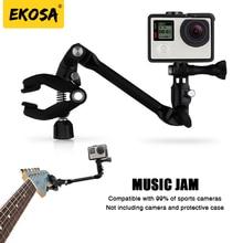 Ekosa Music Jam for Gopro hero 5 four three Mount Rotating Clip Tripod for xiaomi yi 4k sjcam j4000 eken h9 gopro session Equipment