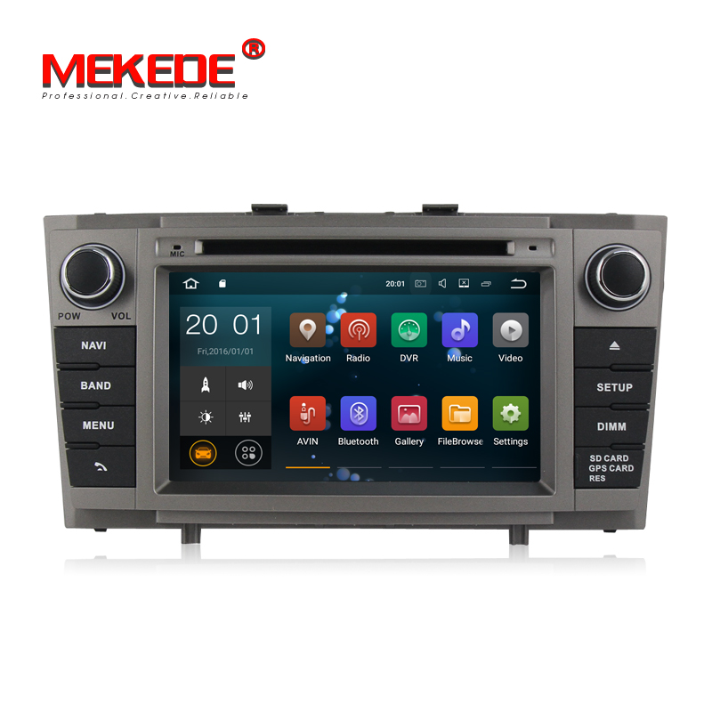 Free shipping! Android8.1 smart car gps navigation dvd player for <font><b>Toyota</b></font> Avensis <font><b>t27</b></font> 2009-2013 support Steering wheel controls image