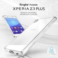 100 Original RINGKE FUSION Case For Xperia Z3 Plus Z3 Z4 Clear Back Shock Absorption Case