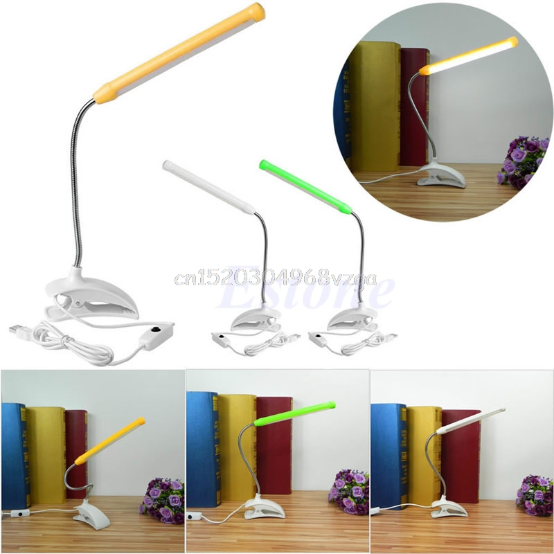 USB Clip-on 13 LED Light Clamp Bed Table Study Desk Reading Lamp Adjustable #H028#