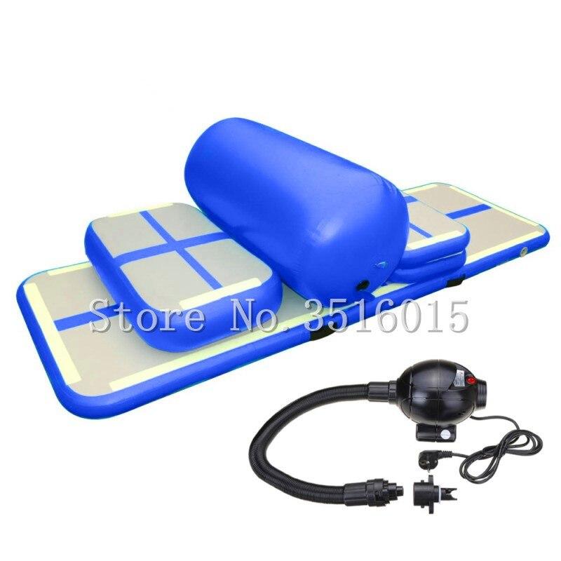 Livraison gratuite un ensemble de petit tapis de saut gonflable gymnastique Air dégringolade piste de Sport gonflable Airtrack pour Gym