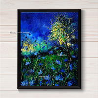 Abstract Top Artist Canvas Painting Posters On Canvas Hand Painted Movie Wall Art Picture Living Room Home Decoration wall stick