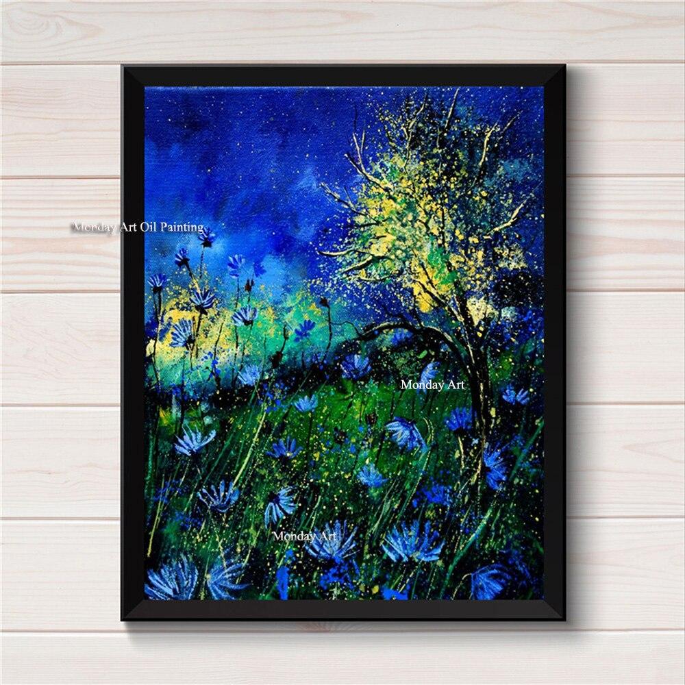 Abstrait Top artiste toile peinture affiches sur toile peint à la main film mur Art photo salon décoration de la maison bâton mural