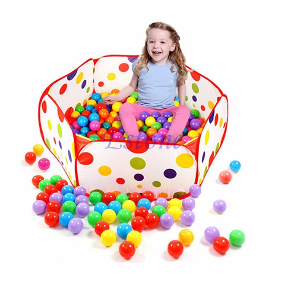 0,9/1/1,2/1,5 Mt Sicherheits Kinder Spielen Zelt Polkadot Hexagon Baby Laufstall Netzinnen Stress Ozean Ball Pool Spielen Hof Zelte Guter Geschmack