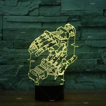 Robot Mô Hình LED Cool 3D Đèn Màu Sáng Tạo 3D LED Đèn Ngủ Sao Chủ Trẻ Em Phòng Trẻ Em Đèn Đèn