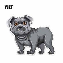 YJZT 14,9*12,3 см собака животное щенок автомобиль Мода креативные Животные стикер C1-4013