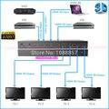 Бесплатная Доставка DHL 1.4 В HDMI 4x4 Матричный Переключатель Splitter Усилитель 4-в 4-out 1080 P 3D с Дистанционным управления От Фабрики