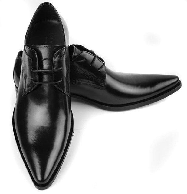New Real Leather Business Menu0027s Dress Shoes Formal Shoes Lace Up Wedding  Shoes Black Or Brown