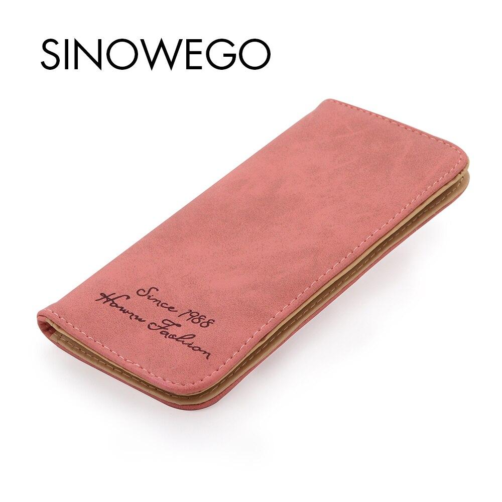 New Fashion Women Wallets Slim Leather Wallet Female Card Holder Coin Purse Woman's Wallet Women Purse Wristlet Bag Small Wallet